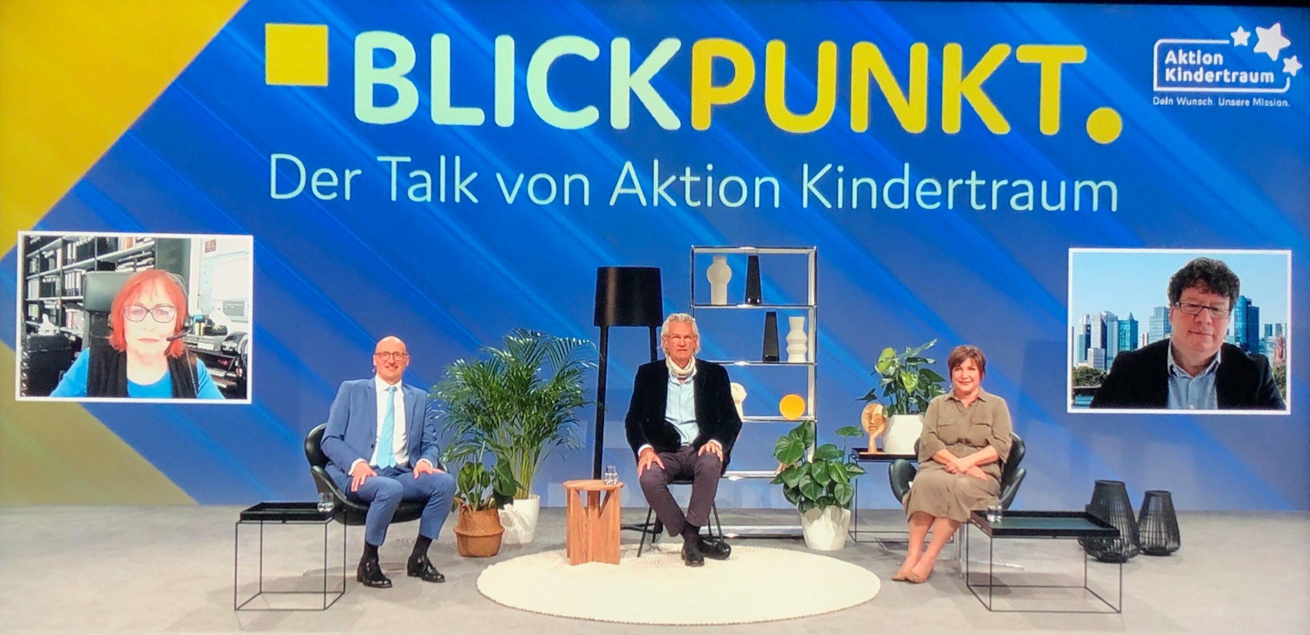 """Aktion Kindertraum Blog BlickpunktTitelWeb scaled - Unsere 2. Talkshow: Transparenz im """"Blickpunkt"""""""