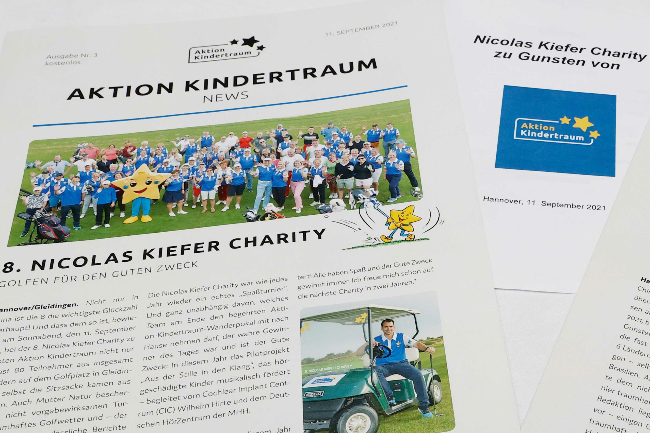 Zeitung scaled - 8. Nicolas Kiefer Charity zu Gunsten von Aktion Kindertraum auf dem Golfplatz in Gleidingen